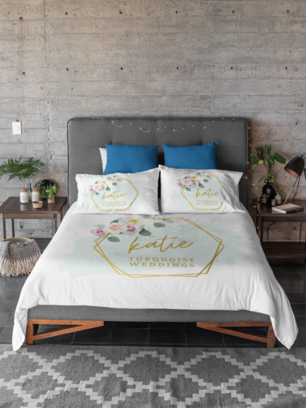 customised bed sheets corporate gift