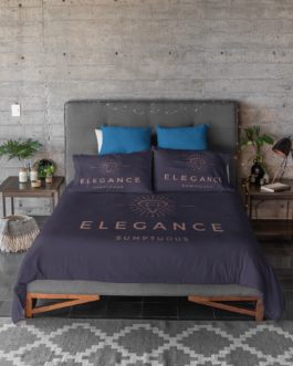 Logo Customized Monogrammed bed sheets Corporate branding and promotion