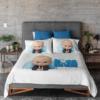 customized kids bedsheet baby boss