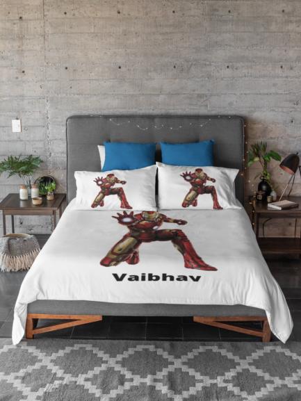 iron man customized kids bedsheet
