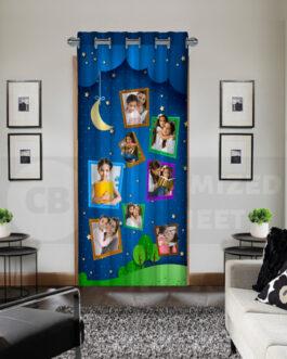 Custom Curtains Drapes Night Sky Moon Collage